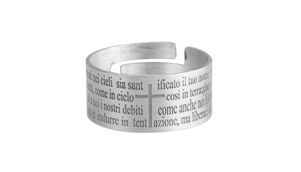 dopo servizio eccellente vera qualità Regali religiosi: anello padre nostro e rosario