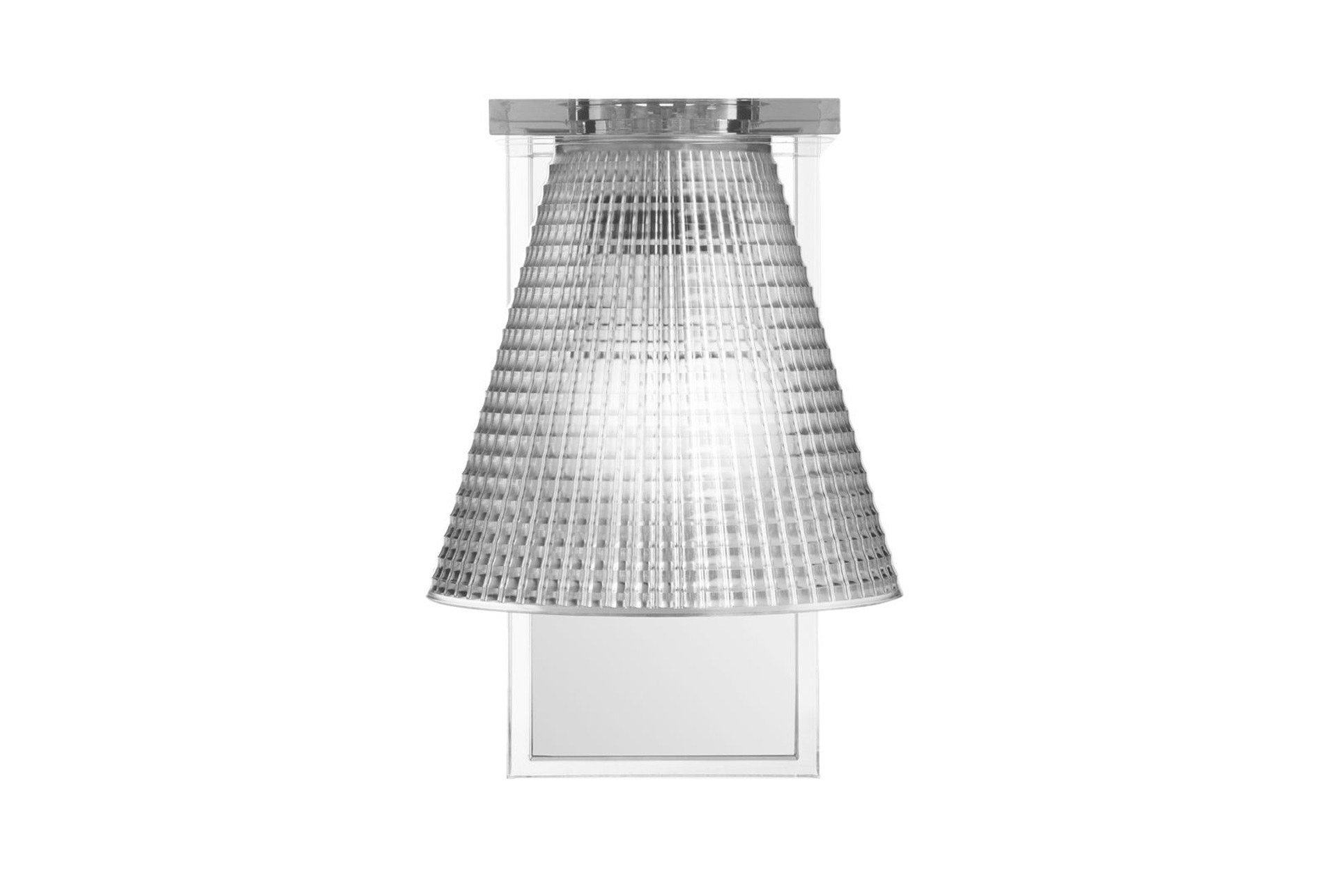 Kartell lampada applique light air trasparente acquista su zanolli