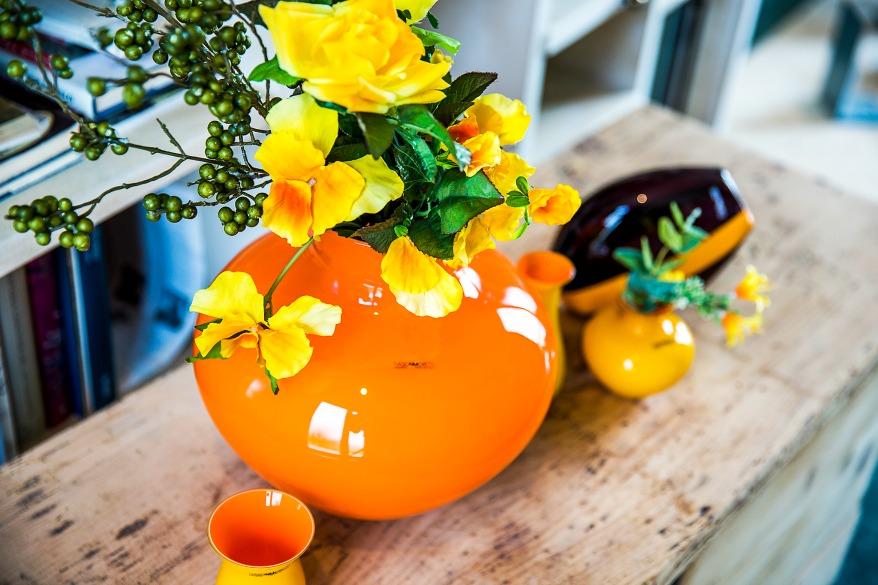 Vasi moderni da interno arredare con i fiori foto per for Arredare con fiori finti