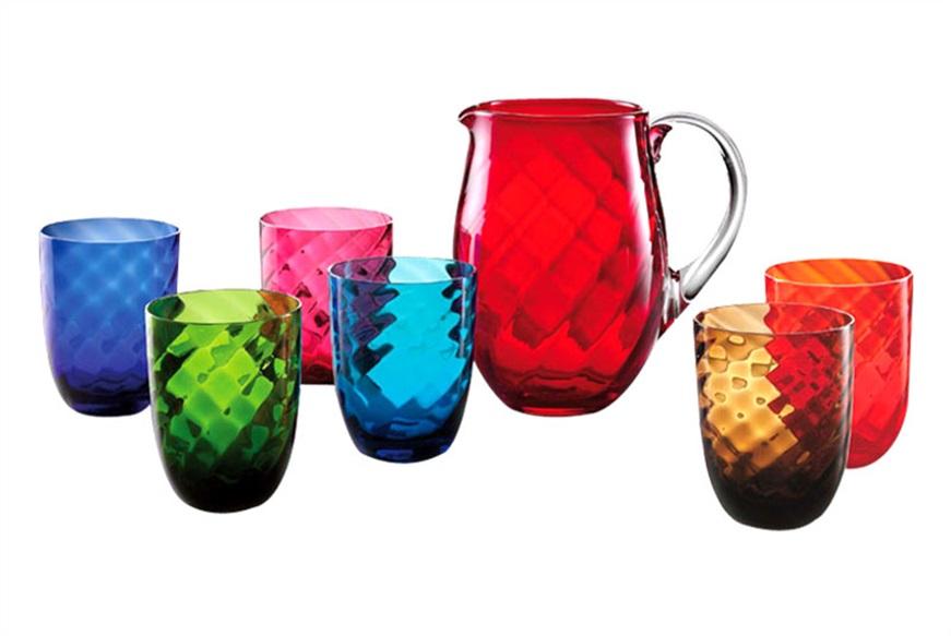 Bicchieri colorati idee per apparecchiare la tavola for Bicchieri colorati vetro