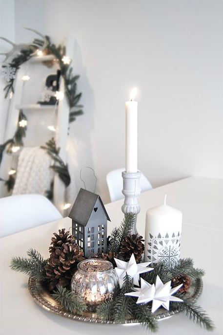 Centrotavola Natalizio Bianco E Argento.Come Fare Un Centrotavola Per Natale