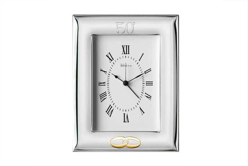 Table clock as a gift for 50 years of marriage