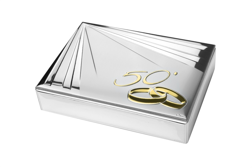 Jewelery box with engraving for 50 years of marriage